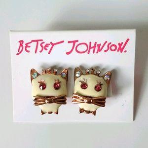 BJ Kitty Crown Earrings